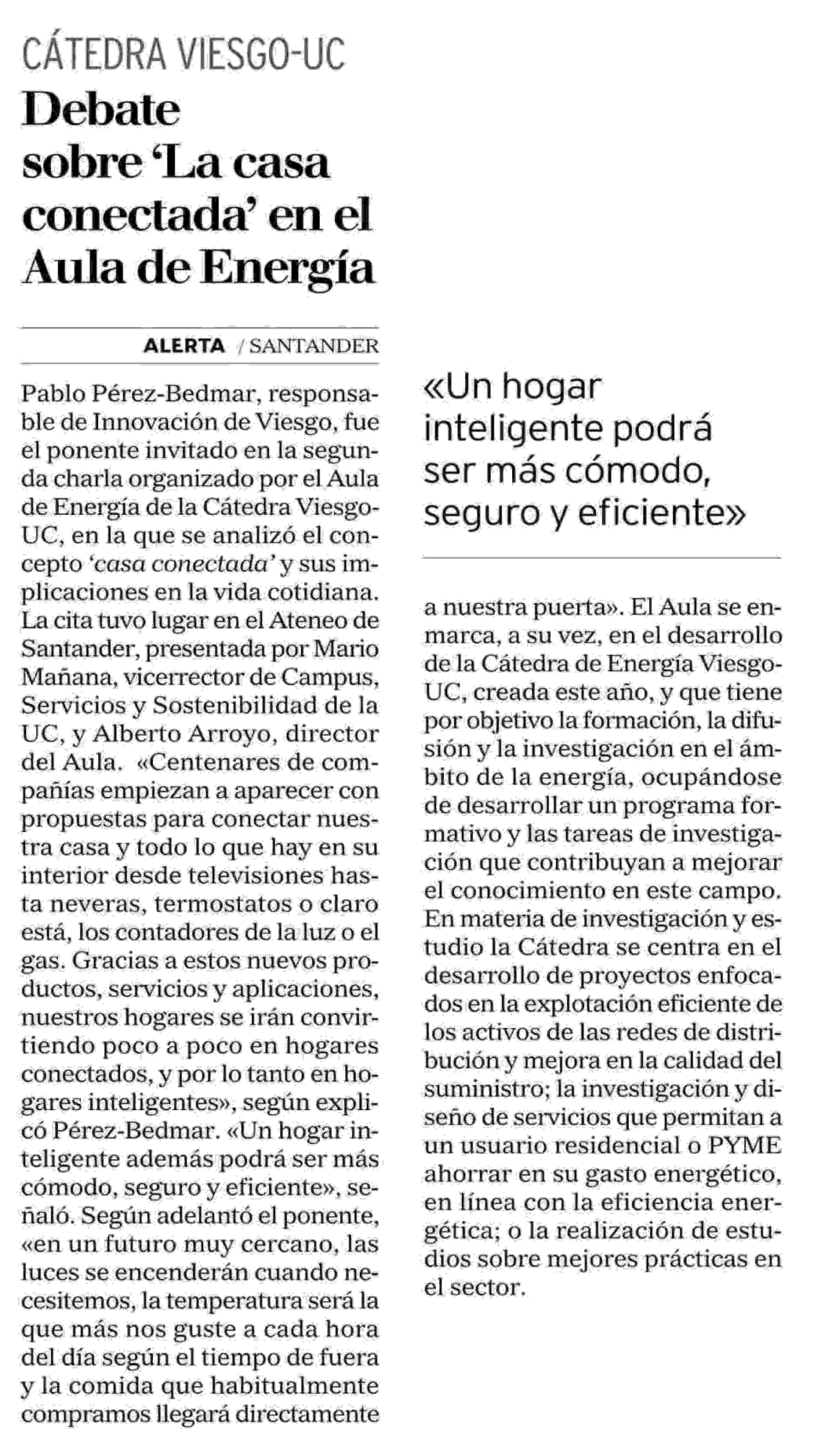 Noticia Casa Conectada Alerta